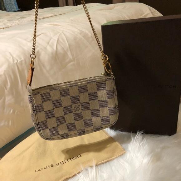 c2365d426944 Louis Vuitton Handbags - LV Pochette Damier Azur Mini Clutch Wristlet